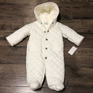 Ralph Lauren Cream Quilted Baby Snowsuit